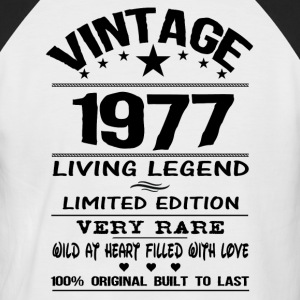 VINTAGE 1977-LIVING LEGEND T-Shirts - Men's Baseball T-Shirt