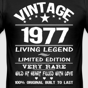 VINTAGE 1977-LIVING LEGEND T-Shirts - Men's Slim Fit T-Shirt