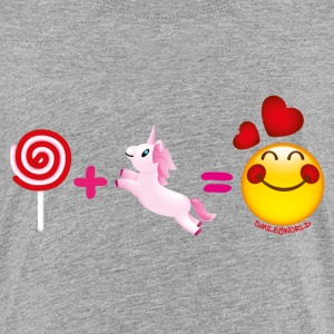 Smiley World Lollipop + Unicorn - Børne premium T-shirt