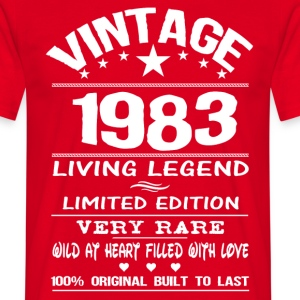 VINTAGE 1983-LIVING LEGEND T-Shirts - Men's T-Shirt