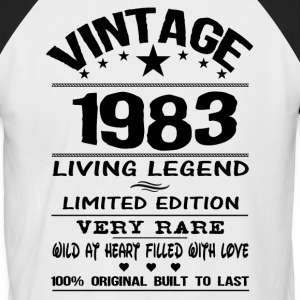 VINTAGE 1983-LIVING LEGEND T-Shirts - Men's Baseball T-Shirt