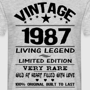 VINTAGE 1987-LIVING LEGEND T-Shirts - Men's T-Shirt