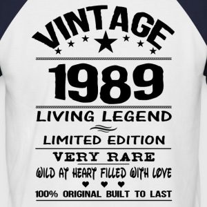 VINTAGE 1989-LIVING LEGEND T-Shirts - Men's Baseball T-Shirt