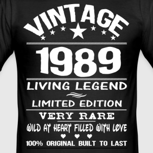 VINTAGE 1989-LIVING LEGEND T-Shirts - Men's Slim Fit T-Shirt