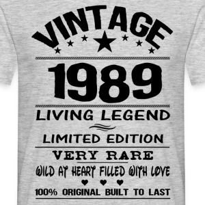 VINTAGE 1989-LIVING LEGEND T-Shirts - Men's T-Shirt