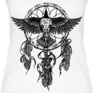 AD Skull Crow Dreamcatcher Top - Top da donna ecologico