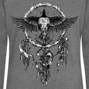 AD Skull Crow Dreamcatcher Sweat-shirts - Pull Femme col bateau de Bella