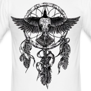 AD Skull Crow Dreamcatcher Tee shirts - Tee shirt près du corps Homme