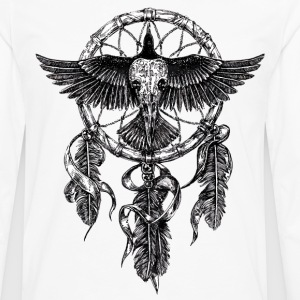 AD Skull Crow Dreamcatcher Long sleeve shirts - Men's Premium Longsleeve Shirt