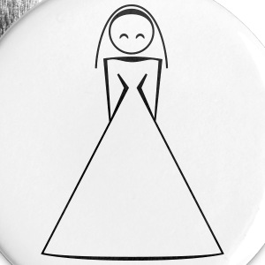 bride / bride to be / wife to be 1c clipart Buttons & badges - Buttons/Badges lille, 25 mm