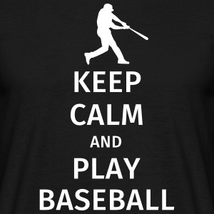 keep calm and play baseball Tee shirts - T-shirt Homme