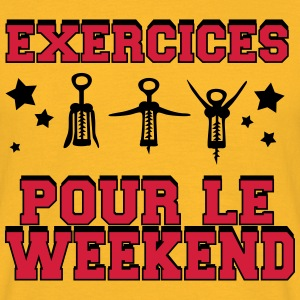 exercices pour le weekend design Tee shirts - T-shirt Homme