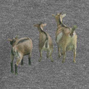 three goats from behind Women's Boat Neck Long Sle - Women's Boat Neck Long Sleeve Top