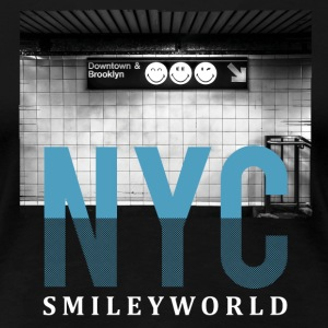 Smileyworld 'NYC 64 Aven Skyline' - Women's Premium T-Shirt