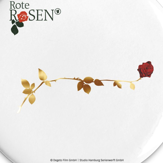 """Rote Rosen - Button 32mm """"Rose"""""""
