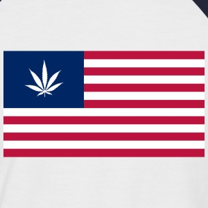 USA is Dope - NaVy - Männer Baseball-T-Shirt