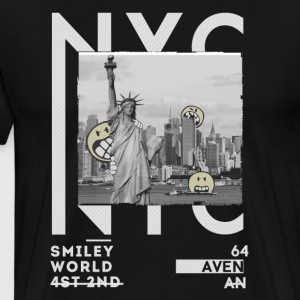 Smileyworld 'NYC 64 Aven Skyline' - Männer Premium T-Shirt