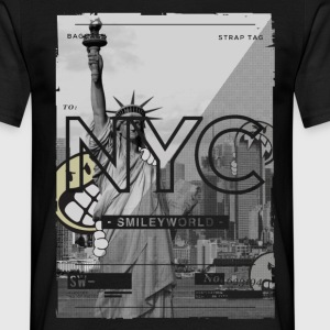 Smileyworld 'NYC 64 Aven Skyline' - Men's T-Shirt
