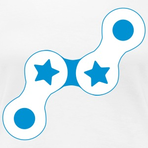 Fixie Chain with Stars - Women's Premium T-Shirt