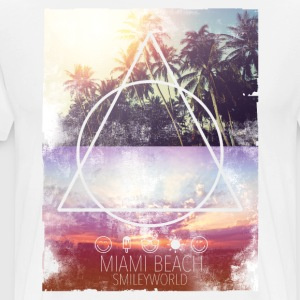 Smileyworld 'Miami Beach' - Mannen Premium T-shirt