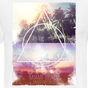 Smileyworld 'Miami Beach' - Maglietta Premium da uomo