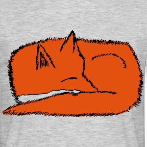 Sleeping Fox  - Men's T-Shirt