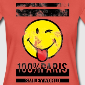 Smileyworld '100% Paris' - Vrouwen Premium T-shirt