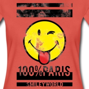 Smileyworld '100% Paris' - Maglietta Premium da donna