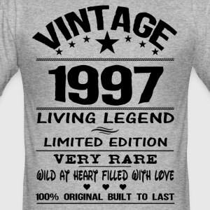 VINTAGE 1997-LIVING LEGEND T-Shirts - Men's Slim Fit T-Shirt