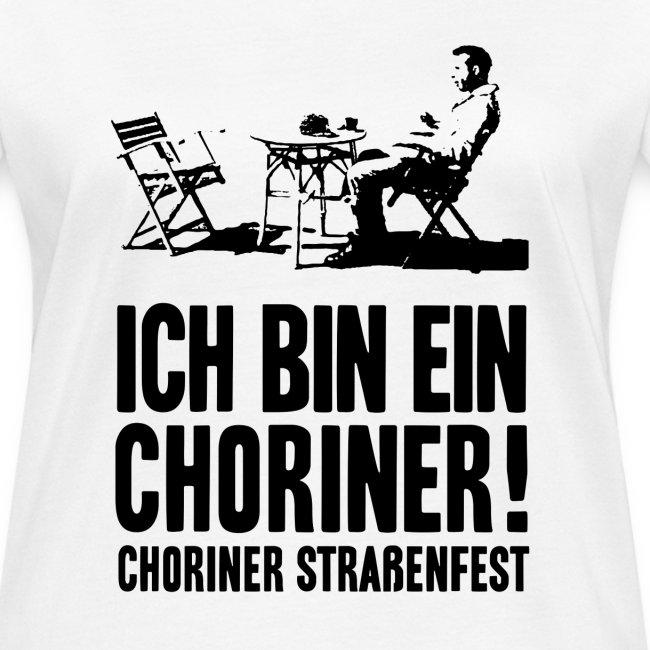 """T-Shirt Bio, Schnitt weiblich: """"Ich bin ein Choriner!"""""""