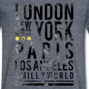 Smileyworld 'Cities' - Men's V-Neck T-Shirt