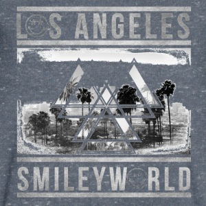 Smileyworld 'Los Angeles Skyline' - Maglietta da uomo con scollo a V