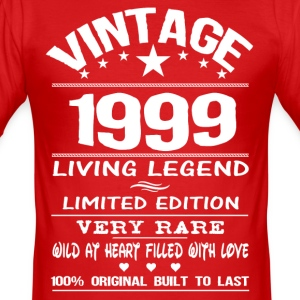 VINTAGE 1999-LIVING LEGEND T-Shirts - Men's Slim Fit T-Shirt