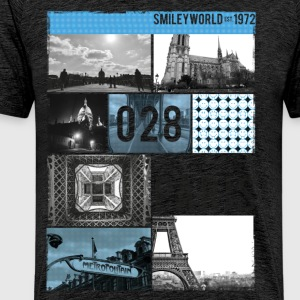 Smileyworld '028 Paris' - Mannen Premium T-shirt