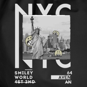 Smileyworld 'NYC 64 Aven Skyline' - Drawstring Bag