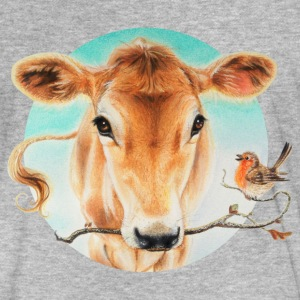 cute cow calf T-shirts - Mannen Bio-T-shirt