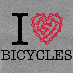 I Love Bicycles T-Shirts - Frauen Premium T-Shirt