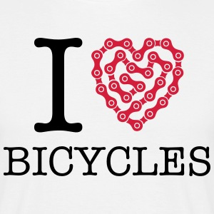 I Love Bicycles T-shirts - Mannen T-shirt
