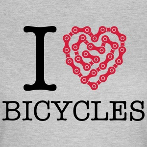 I Love Bicycles Tee shirts - T-shirt Femme