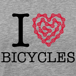 I Love Bicycles T-Shirts - Men's Premium T-Shirt