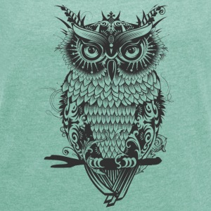 A dark owl T-Shirts - Women's T-shirt with rolled up sleeves