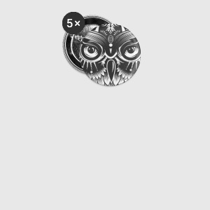 Un hibou noir Badges - Badge moyen 32 mm
