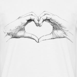 Hands heart T-shirts - Mannen T-shirt