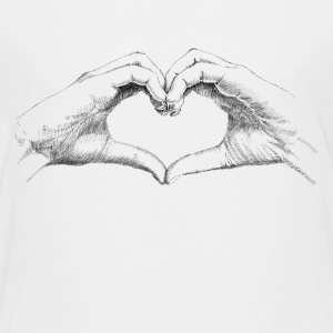 Hands heart Shirts - Teenage Premium T-Shirt