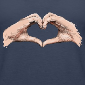 Hands heart Topper - Premium singlet for kvinner