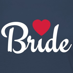 bride with heart 2c Long Sleeve Shirts - Women's Premium Longsleeve Shirt