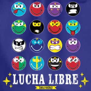SmileyWorld Lucha Libre Wall of Fame - Drawstring Bag