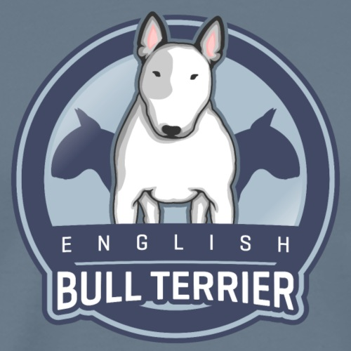 English Bull Terrier Front WHITE