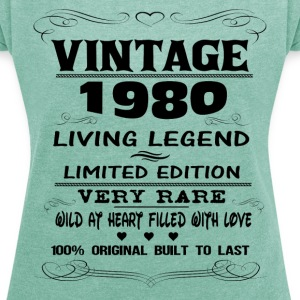 VINTAGE 1980-LIVING LEGEND T-Shirts - Women's T-shirt with rolled up sleeves