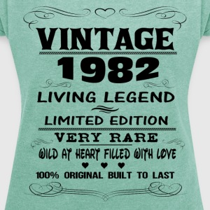 VINTAGE 1982-LIVING LEGEND T-Shirts - Women's T-shirt with rolled up sleeves